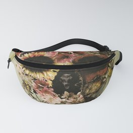 Garden Skull Light Fanny Pack