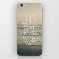 leah flores iPhone & iPod Skins featuring Let's Run Away by Laura Ruth and Leah Flores  by Laura Ruth