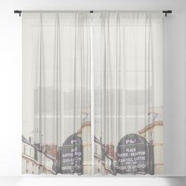 Place Sartre Beauvoir Sheer Curtain