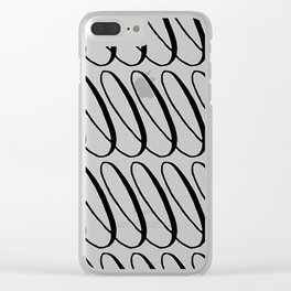 Curly Pattern 11 Clear iPhone Case