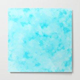 Light Blue Beach Vibes Abstract Metal Print
