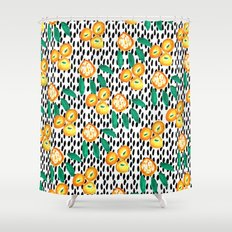 Citrus and Leaves II Shower Curtain