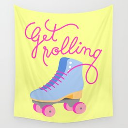 Get Rolling (Yellow Background) Wall Tapestry