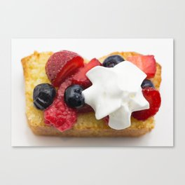 Lemon Cake with Berries Canvas Print