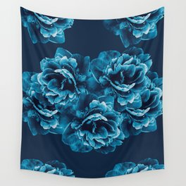 Blue Peony Flower Bouquet #1 #floral #decor #art #society6 Wall Tapestry