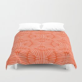 Basketweave-Persimmon Duvet Cover