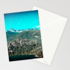 Mountains and Forest - Lake Diablo in North Cascades National Park Stationery Cards