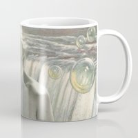 bath Mugs featuring THE BATH by Julia Lillard Art