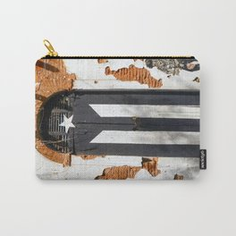 Puerto Rico Black flag Carry-All Pouch