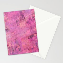 Abstract paint pink Stationery Cards