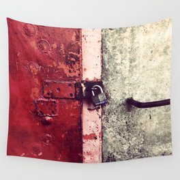 Columbia, SC Riverfront Locked Door Wall Tapestry