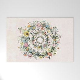 Circle of life- floral Welcome Mat