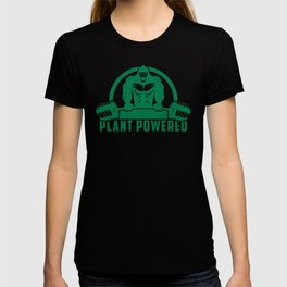 Plant Powered Vegan Gorilla - Funny Workout Quote Gift T-shirt