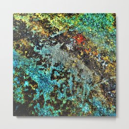 Abstract Rough Texture Metal Print