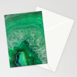 Green Emerald Agate Stationery Cards