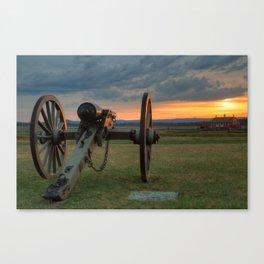 Gettysburg Cannon Sunset Canvas Print