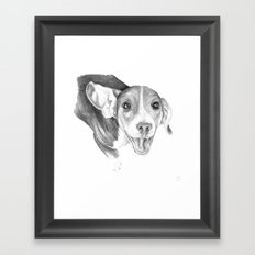 A Story To Tell :: A Beagle Puppy Framed Art Print