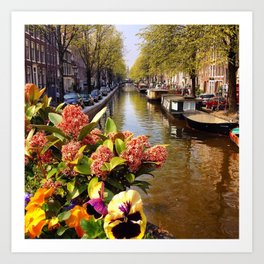 Amsterdam Canal Summer Art Print