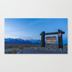 Welcome to Grand Teton  Canvas Print