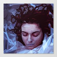 laura palmer Canvas Prints featuring Laura Palmer from Twin Peaks by Alice Teal