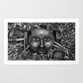 Brain Wave (Still Frame 3) Art Print