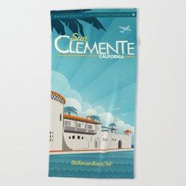 San Clemente Ole Hanson Beach Club Beach Towel