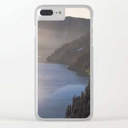 First Light at the Lake - Nature Photography Clear iPhone Case