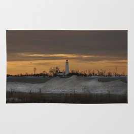 Winter sunset Rug