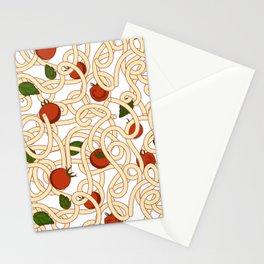 Spaghetti with tomato Stationery Cards