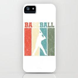 Baseball Pitcher Softball Players Batter Hitters Retro Vintage Baseball Gift iPhone Case