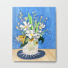 Still Life with Daisies Metal Print