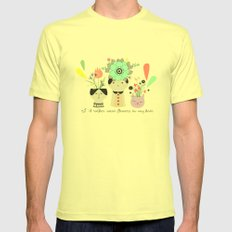 I´d rather wear flowers in my hair SMALL Mens Fitted Tee Lemon