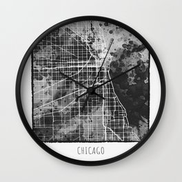 Chicago City Map Wall Clock