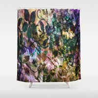 vintage flowers Shower Curtains featuring Vintage Flowers by Vitta