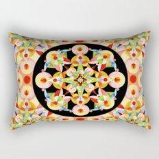 Pastel Carousel Black Circle Rectangular Pillow