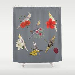 Cockatiels Galore Shower Curtain