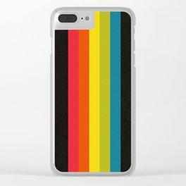 Retro Camera Color Palette Clear iPhone Case