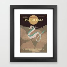 Minimalist Spirited Away Framed Art Print