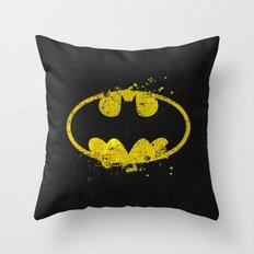 Bat man's Splash Throw Pillow