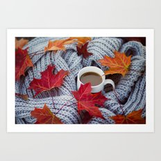 autumn coffee Art Print