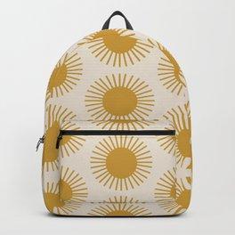 Golden Sun Pattern Backpack