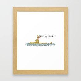 Love Runs Deep - Submarine Art Framed Art Print