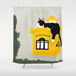 Paws off my post! Shower Curtain