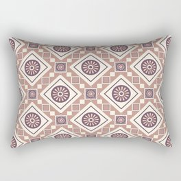 Broken Pieces Abstract Geometric Print Seamless Pattern Rectangular Pillow