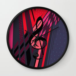 Lively Musical Dimensions Wall Clock