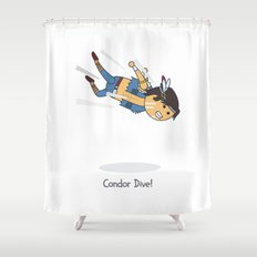 Condor Dive! Shower Curtain