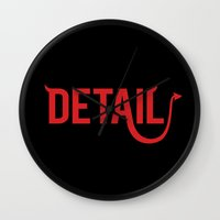 The Devil Is In The Detail Wall Clock