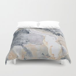 As Restless as the Sea: a minimal abstract painting by Alyssa Hamilton Art Duvet Cover