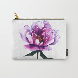 Watercolor Peony Carry-All Pouch