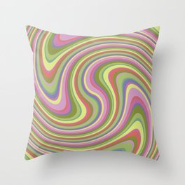 Twist and Shout-Fairytale colorway Throw Pillow